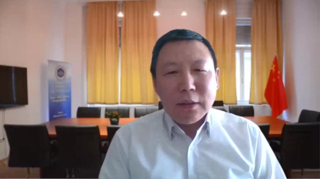 中国社会科学院欧洲研究所副所长、中国欧洲学会秘书长陈新研究员在线致辞